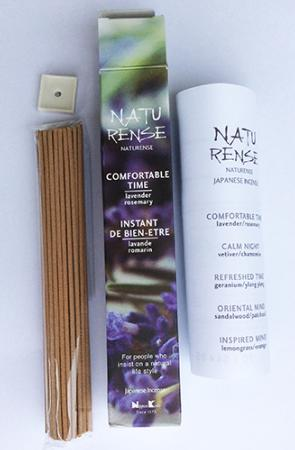 Naturense Japanese Incense   Comfortable Time   40 Sticks & holder   by Nippon Kodo