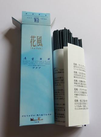 Ka-fuh Aqua Incense | Box of 120 Sticks by Nippon Kodo | Low smoke