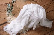 White cotton wrap