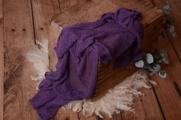 Purple rayon wrap
