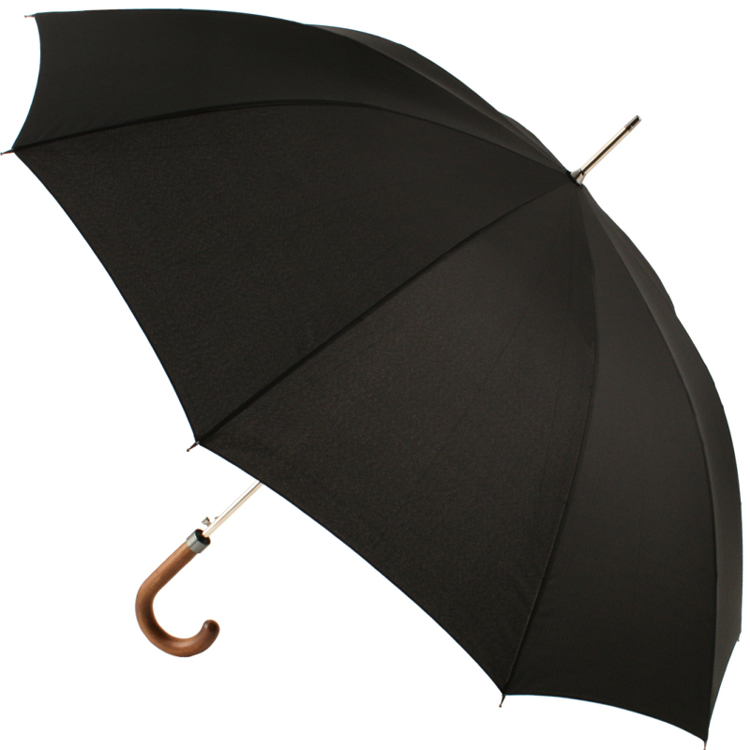 M&P Black Gents Automatic Opening Long Umbrella with Sleeve