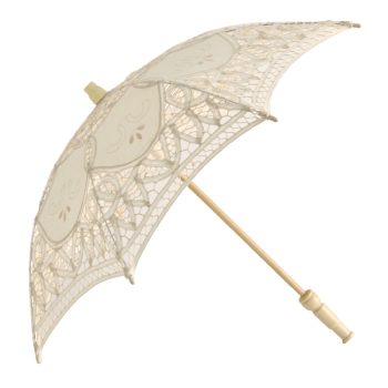 Alice Lace Parasol for Children in Cream